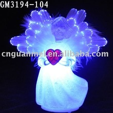 2012 Christmas home decoration with fiber optical wings
