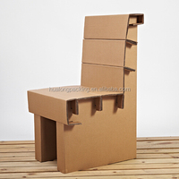 Environment Friendly cardboard corrugated paper chairs