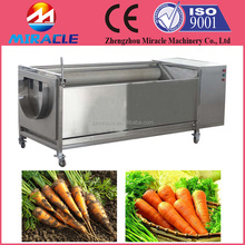 How to find the good quality Automatic Brush Cleaning machine to remove the carrot peel and carrot washing machine