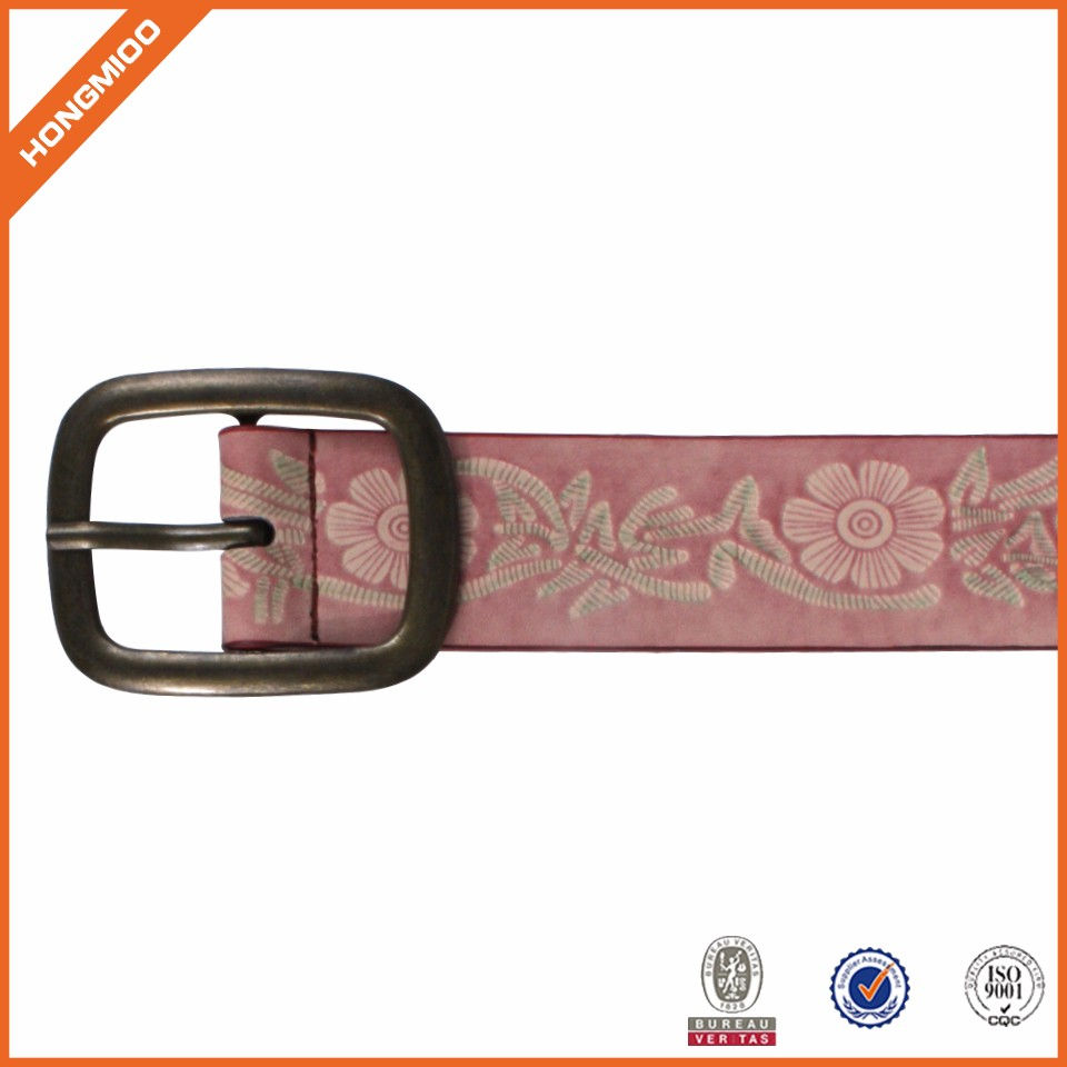 Fashion High Quality Casual Vintage Leather Belt Embossing