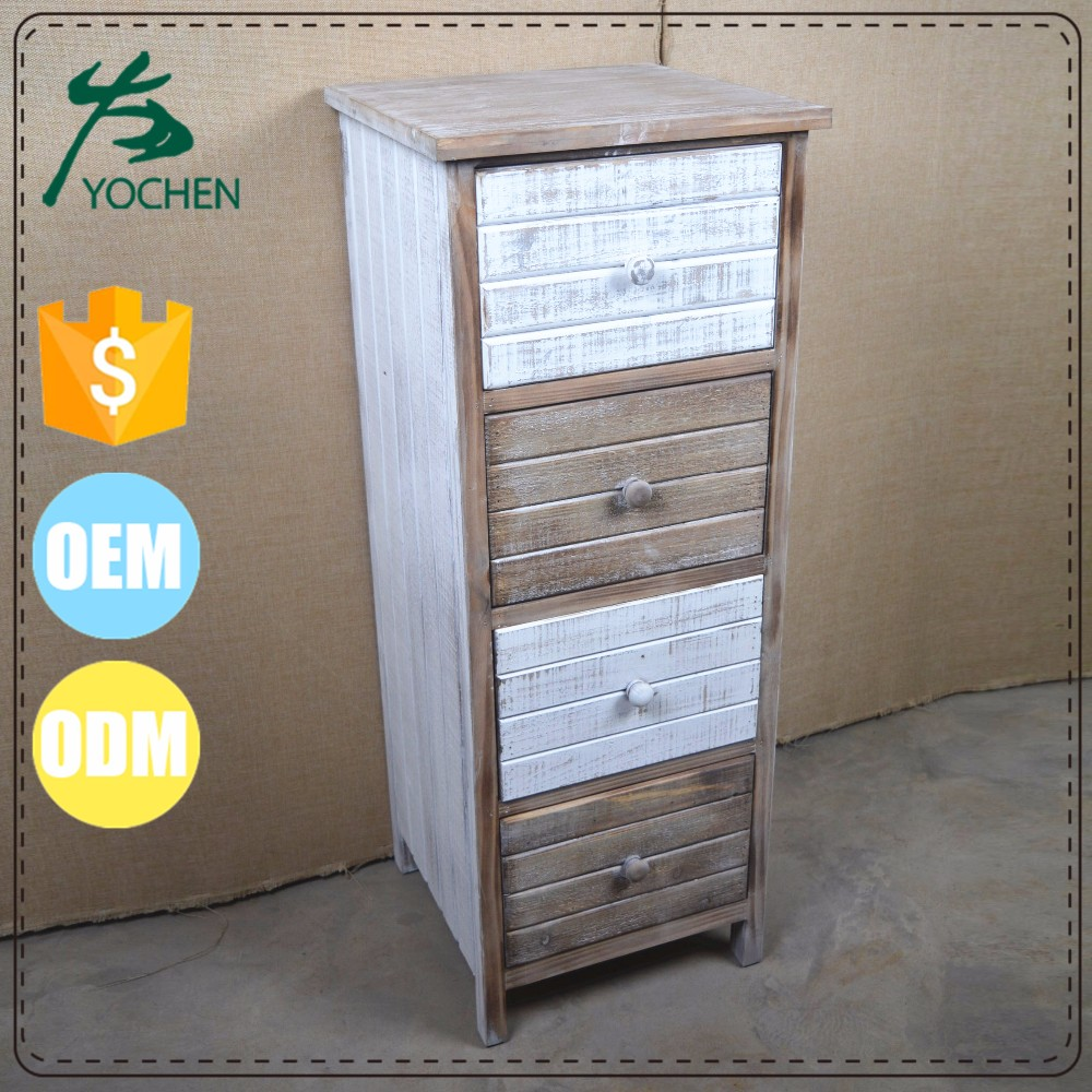 low cabinet unfinished antique furniture living room decoration drawer storage cabinet