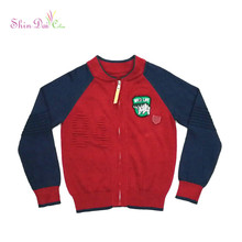 Wholesale Cotton Boys Sweater Knitted Cardigan Designs for Kids