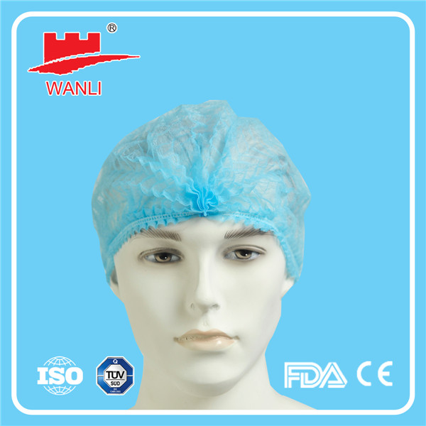 Non Woven Fibre Disposable Hair Nets Food Industry