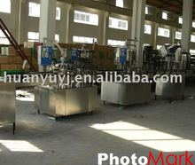 Linear washing, filling and capping machine for bottled water