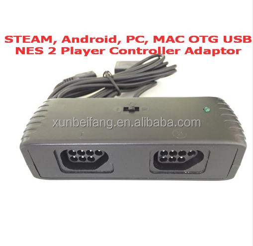 STEAM, Android, PC, MAC-OS OTG USB for NES 7Pins 2 Players Controller Adaptor