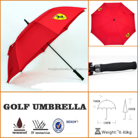 red jubilant outdoor market strap golf umbrella with nylon bag