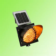 New Arrival 300mm Flashing Yellow Light Mini Solar Powered Led Light Traffic Light Remote Control