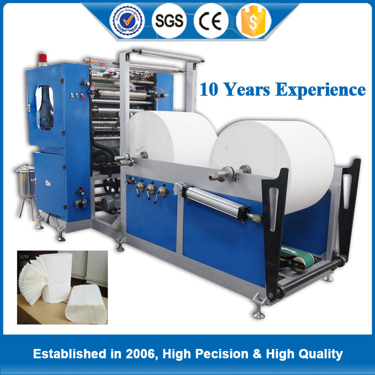 New promotion Handkerchief paper folding machine price making