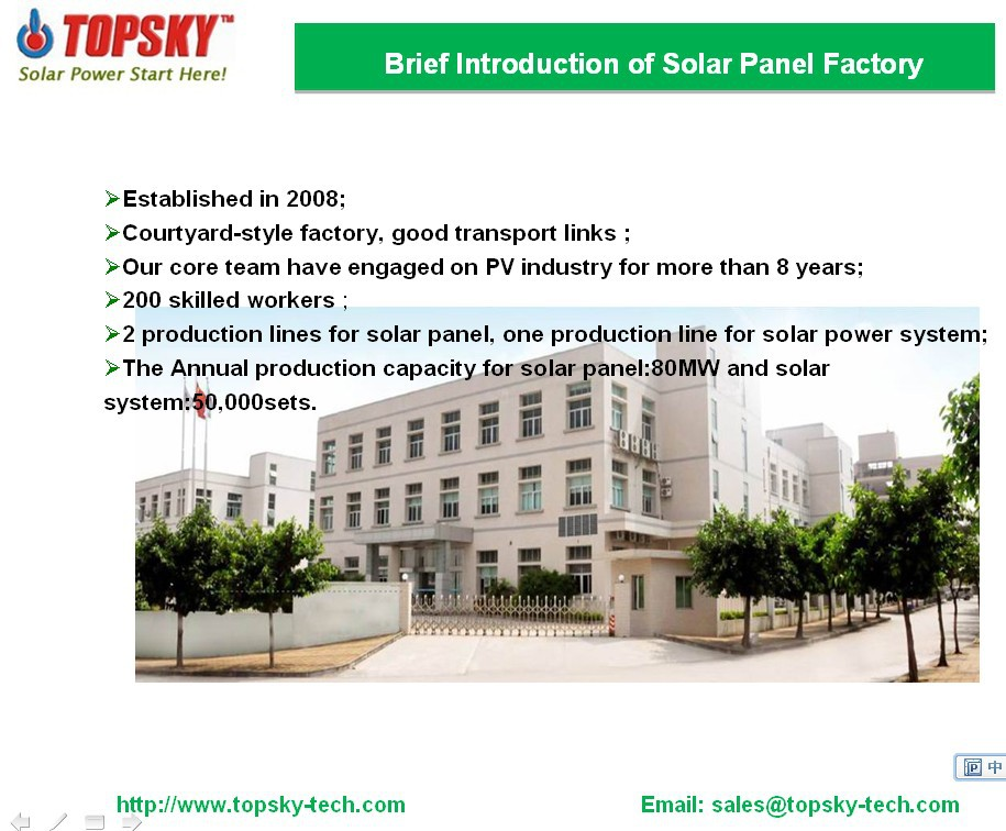20W 18V portable poly solar panels for LED Light, Charger, etc from China
