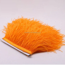 Bright colors Fashion Dyed Ostrich Feather Fringe Trim for Party/Garment