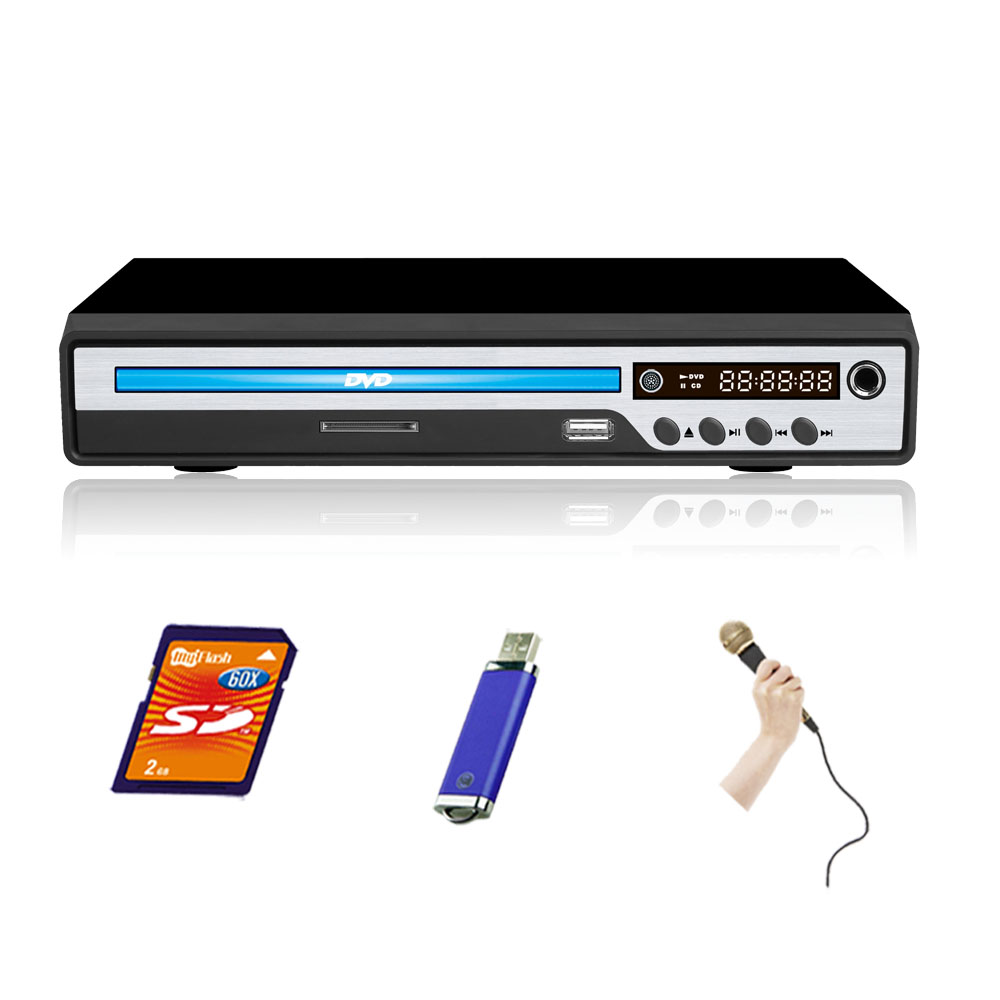 USB SD Karaoke DVD Player 225mm
