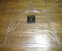 PE material transparent clear rain poncho without phthalates
