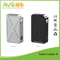 Ergonomic Tesla Invader III 240W Box Mod with Safety Battery Best for HI-Watt Tank/RDA