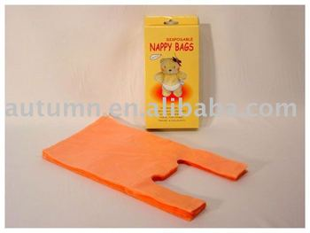 Biodegradable plastic T-shirt bag