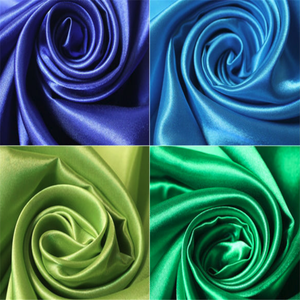 Cheap polyester satin fabric for evening dress
