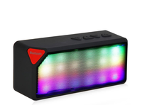X3 Portable Wireless Bluetooth Speaker With Colorful Neon Light X3S Calling TF Card FM Line in Function for Smartphone MP3 MP4