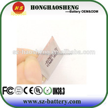 thinness lithium cell 15mah ultra thin battery factory used for wallet and purse