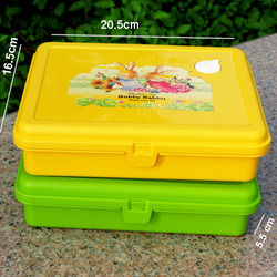 Dinnerware Set Food Grade Heat Resistant Plastic Box Lunch Containers