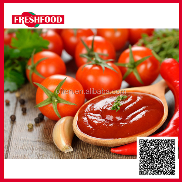 Fresh Food 2016 best selling canned tomato paste 28-30% brix