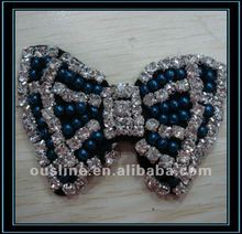 rhinestone beads bow shoe flower accessories