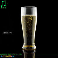 480ml chinese wholesale high quality machine made clear fashionable wheat beer glass cup