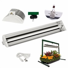 Desk hanging brackets plant growth lowes daylight fluorescent lamp tube prices EDL T5 HO Strip Grow Light fixture reflector