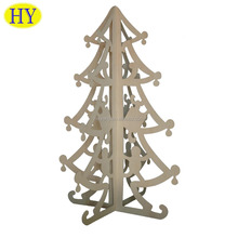 Custom Natural Christmas Decorations Laser Cutting Wood