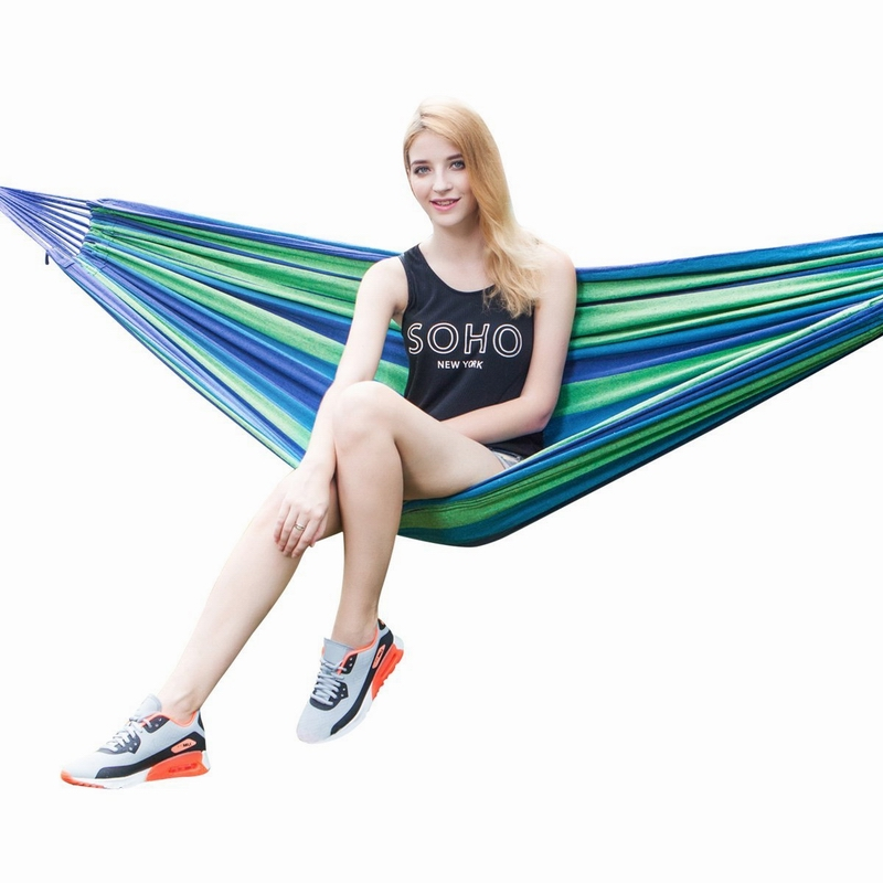 Fabric hammock chair camping with straps make cotton canvas fabric hammock