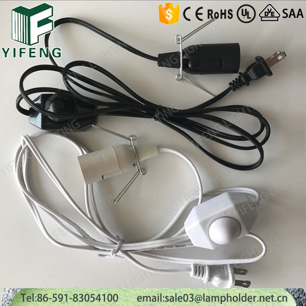 110v Dimmable E12 Lamp power Cords With Rotary Dimmer Switch