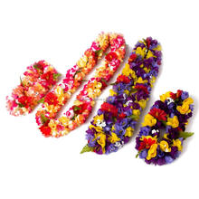 Wholesale Promotional Hawaiian Flower Necklace Lei