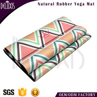Wholesale Fitness Equipment Exercise Mat Sublimation Rubber printed Yoga Mats