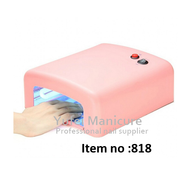 2016 hotselling 36w nail uv lamp 818 with timers