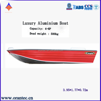 Beautiful Design Customized Deep-v Aluminum Fishing Boat 1.6mm Bottom Thickness With CE