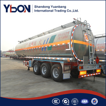 45000L stainless steel fuel tanker truck trailer water storage tank