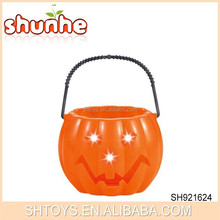 Wholesale Cheap Toy Plastic Lighting Halloween Bucket For Decoration