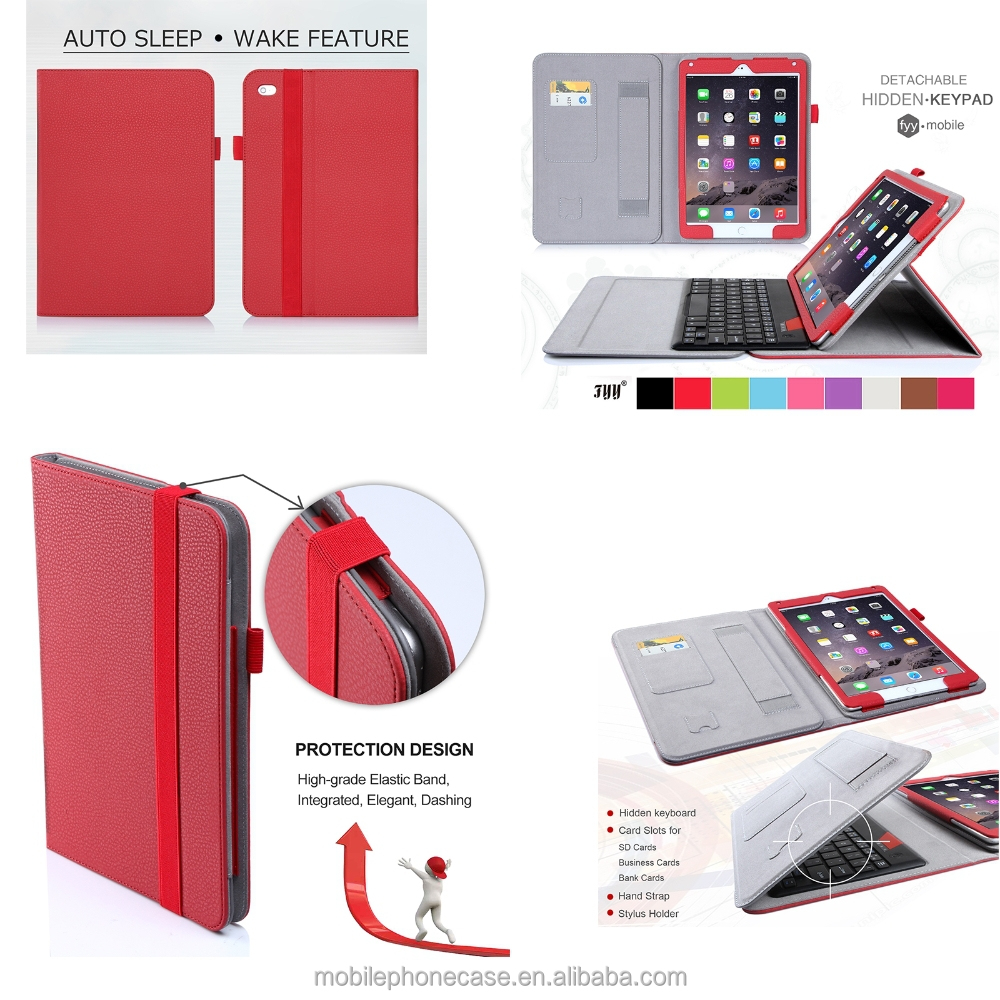 2016 Wholesale Custom Best Brand New Fashion Design Bluetooth Keyboard Tablet Cases For Ipad 6
