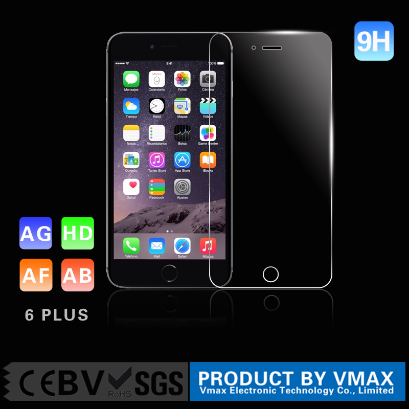 alibaba express hight quanlity 9H 0.33MM tempered glass screen protector for iphone 6 plus 5.5 inch accept paypal <strong>payment</strong>