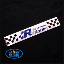 wholesale cheap metal imprinting famous car body sticker