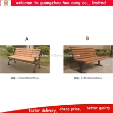 Durable WPC outdoor natural wood chair / garden WPC bench / park leisure chair for sale