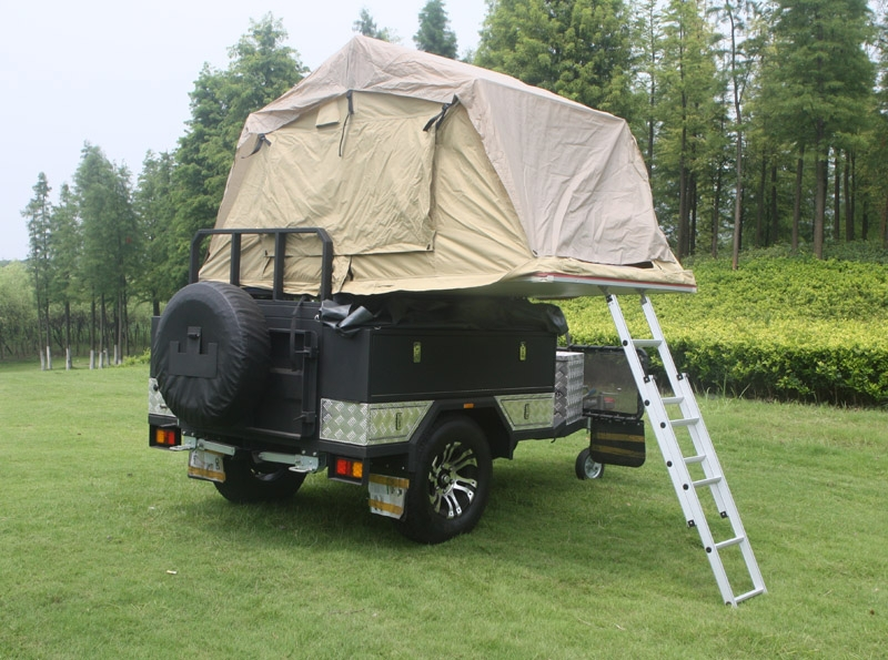 Car trailer manufacturer off road caravan 4x4 tent camping for L interieur trailer