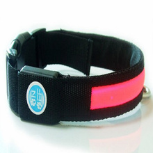 New fashion design solar energy products LED dog collar with USB charging