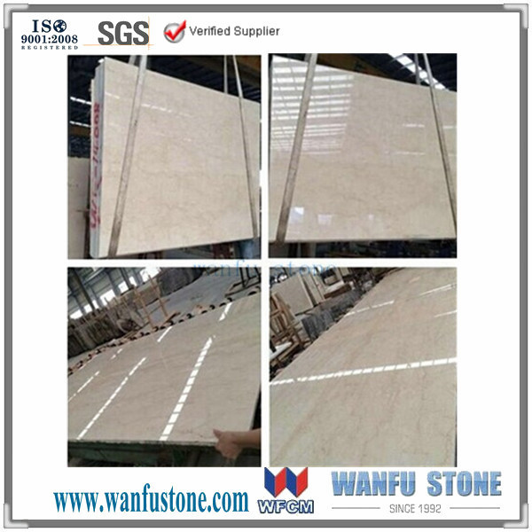 Beautiful Cream and Gold Nature Stone/wholesale cream beige marble tile/customized marble 24x24 tiles