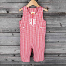 spring and fall baby boy red small check longall