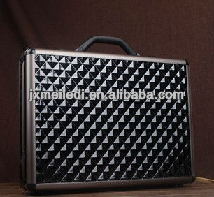 new high quality black or silver Diamond pattern Aluminum tool case PC case