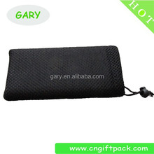 Black Small Nylon Net Mesh Gift Packaging Storage Bags