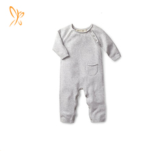 2018 Grey Newborn Baby Onesie Clothes Kids Organic Cotton baby rompers
