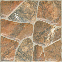 China supply 300x300mm stone texture non-slip rustic shower tile