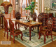 Luxury marble top dining table set NG5637&NG5633&NG5633A