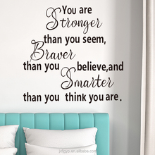 You Are Stronger Inspirational Quotes Office Wall Decor PVC Decal Sticker Manufacture