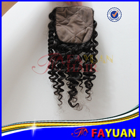 Hot sell new arrival brown scalp free parting brazilian afro kinky curly hair silk base closure
